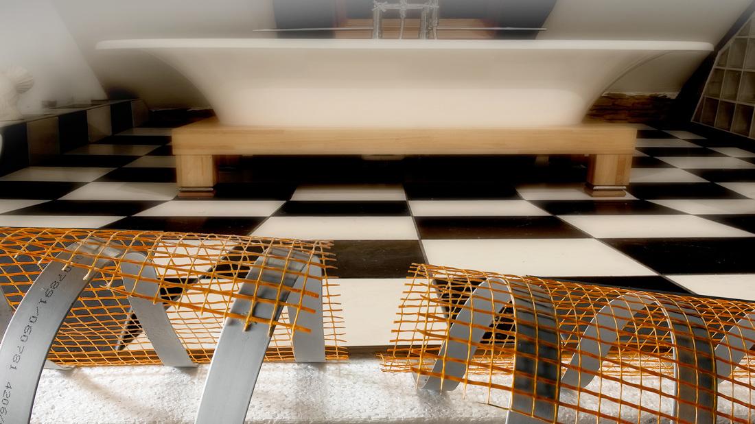 chauffage par le sol sous le carrelage sol chauffant fr. Black Bedroom Furniture Sets. Home Design Ideas